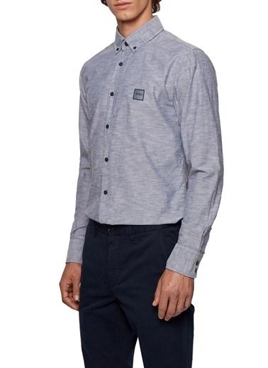 Hugo Boss  % 100 Pamuklu Slim Fit Gömlek Erkek Gömlek 50432726 404 Lacivert